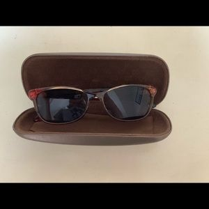 GUCCI HAVANA FLORAL CAT EYE SUNGLASSES WITH CASE